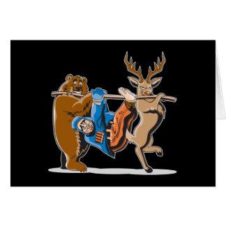 Anti Hunting Animal Revenge Greeting Card
