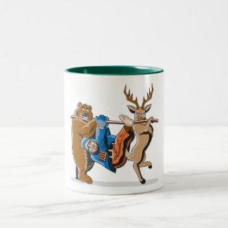 Anti Hunting Animal Revenge Two-Tone Coffee Mug