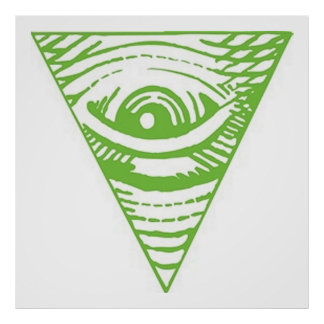 Anti Illuminati Poster Inverted Pyramid
