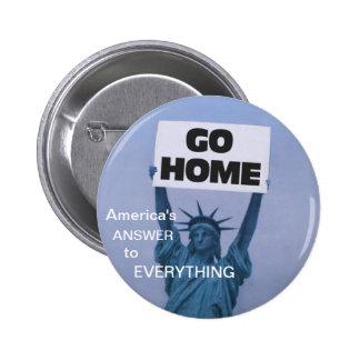 Anti-Immigration Pinback Button