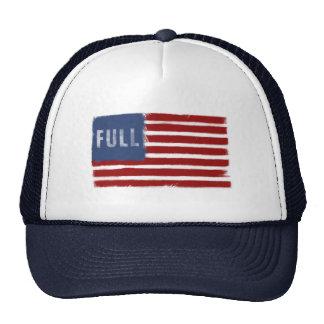 Anti-Immigration Slogan - American Flag Cap Trucker Hat
