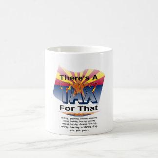 Anti-Impuesto (Arizona) Taza Básica Blanca