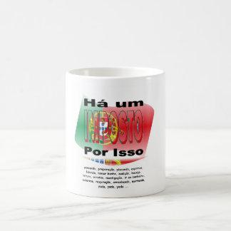 Anti-Impuesto (Portugal) Taza Básica Blanca