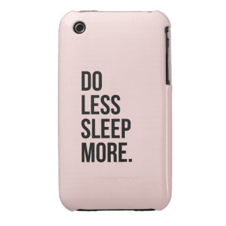 Anti Inspirational Funny Quotes Do Less Pink iPhone 3 Cover