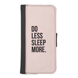 Anti Inspirational Funny Quotes Do Less Pink iPhone SE/5/5s Wallet Case