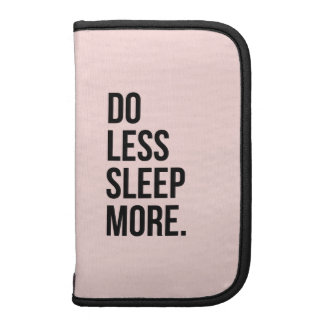 Anti Inspirational Funny Quotes Do Less Pink Organizer