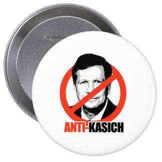 Anti-Kasich 4 Inch Round Button