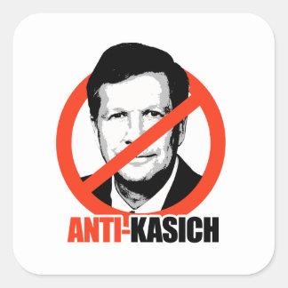 Anti-Kasich Square Sticker