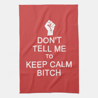 Anti - Keep Calm custom hand towel