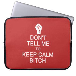 Anti - Keep Calm custom laptop sleeves
