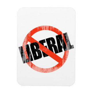 Anti-Liberal 2 Faded png Rectangular Magnets