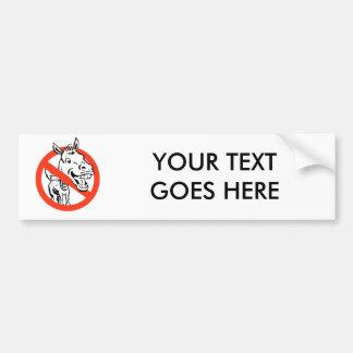 Anti-Liberal / Anti-Democrat Car Bumper Sticker