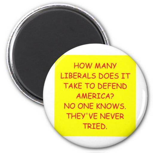 anti liberal anti obama joke 2 inch round magnet