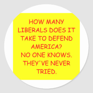 anti liberal anti obama joke classic round sticker