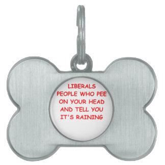 anti liberal pet ID tag