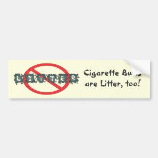 Anti Litter Bumpersticker Bumper Sticker