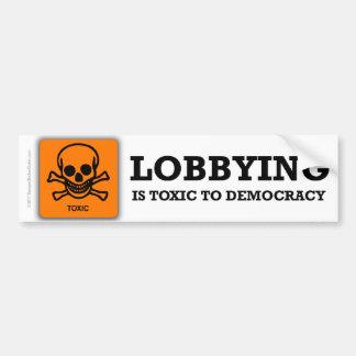 Anti-Lobbying bumper sticker