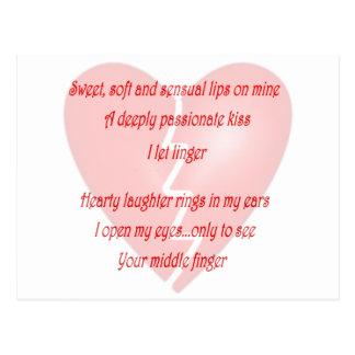 Anti-Love Anti-Valentine s Day poem Postcard