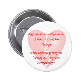 Anti-Love Anti-Valentine's Day poem - Customized Button