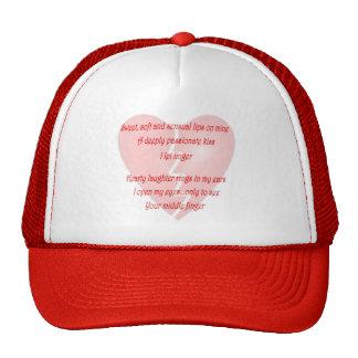 Anti-Love Anti-Valentine's Day poem Hats