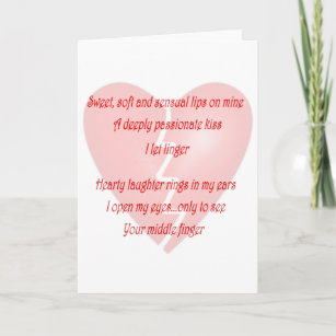 Middle finger cards zazzle anti love anti valentines day poem holiday card m4hsunfo