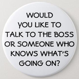 Anti Management Funny Boss Employee Button