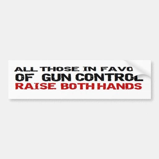 Anti manos del control de armas de Obama anti amba Pegatina De Parachoque