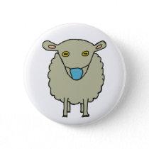 Anti-Mask Mask-Wearing Sheep Button