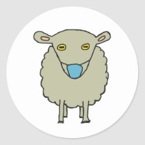 Anti-Mask Mask-Wearing Sheep Classic Round Sticker