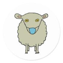 Anti-Mask Mask-Wearing Sheep Classic Round Sticker