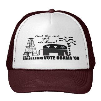 Anti McCain Anti Drilling Vote Obama Hat