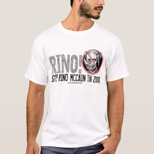 Anti-McCain Circle Rino T-Shirt