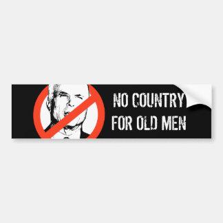 Anti-McCain: No country for old men Bumper sticker