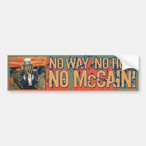 Anti McCain No Way No How No McCain Bumper Sticker