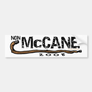 Anti McCain Non McCane 2008 Gear Bumper Sticker
