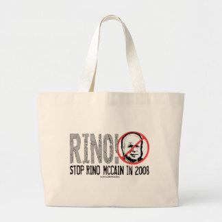 Anti McCain Rhino: RINO! Tote Bag