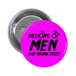 Anti men pinback button