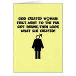 Anti men feminist greeting cards