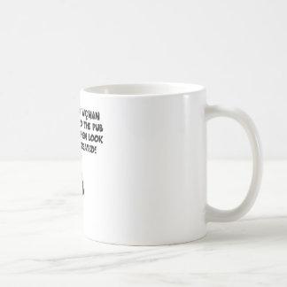 Anti men classic white coffee mug