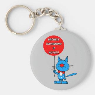 anti Michele Bachmann Basic Round Button Keychain