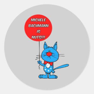anti Michele Bachmann Classic Round Sticker