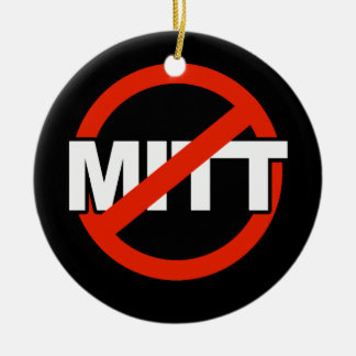 Anti Mitt Name -.png Double-Sided Ceramic Round Christmas Ornament