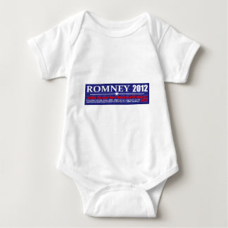 Anti Mitt Romney 2012 President JOB MACHINE Design Baby Bodysuit