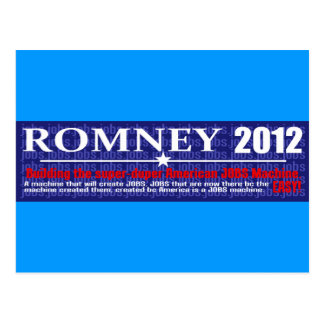Anti Mitt Romney 2012 President JOB MACHINE Design Postcard