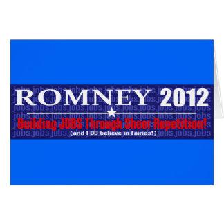 Anti Mitt Romney 2012 President REPETITION Design Card
