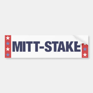 Anti Mitt Romney Mitt-Stake bumper sticker