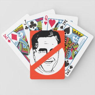 ANTI- MITT ROMNEY BICYCLE PLAYING CARDS