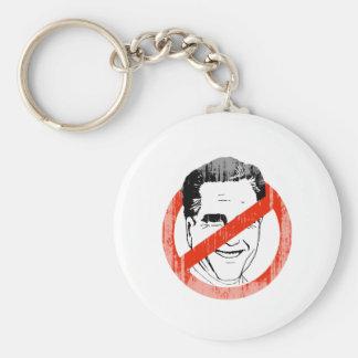 Anti Mitt Romney white -.png Basic Round Button Keychain