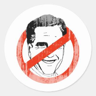 Anti Mitt Romney white -.png Round Sticker