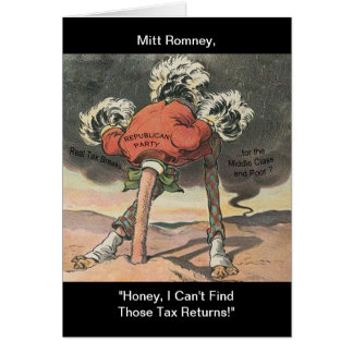 Anti-Mitt Romney with Head in the Sand Card